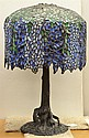 Tiffany style leaded glass 'Wisteria' table lamp