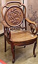 Chinese Wooden Armchair, Birds