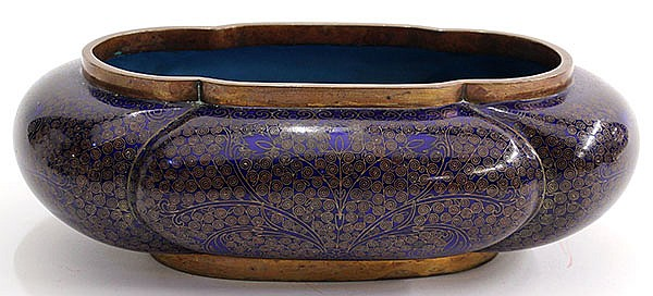 Chinese Cloisonne Lobed Vessel