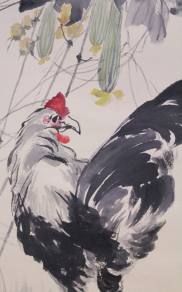 Chinese Scroll, Zhang Shuqi (after), Rooster