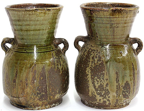 Pair of Japanese Stone Ware Jars