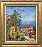 Painting, Medditeranean Coast, signed