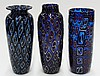 (lot of 3) Art glass vases by Michael Nourot (American b.1949)