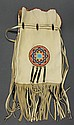 Native American, handmade leather shoulder bag