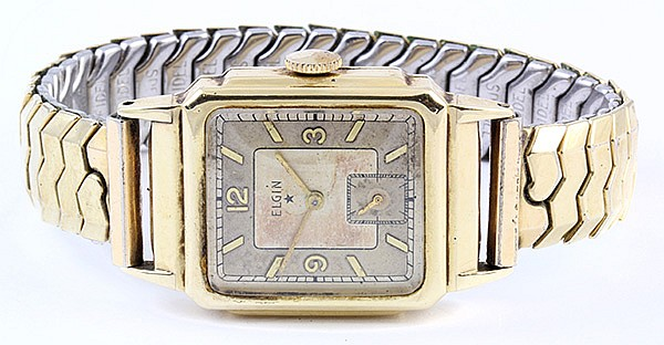 Gentelman's Elgin yellow gold wristwatch