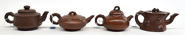 Four Chinese Yixing Tea Pots