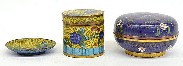 Group of Chinese Cloisonne Enameled Ware
