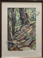 Watercolor, Ted Schuyler, Path Through the Forest, 1950