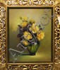 Painting, Still Life with Yellow Roses, signed Marjorie Sharpe