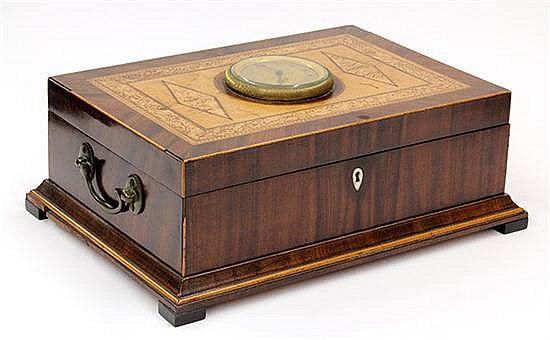 Continental musical sewing box