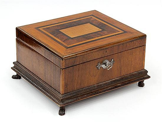 Continental inlaid tea box
