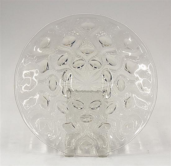 Rene Lalique opalescent glass plate