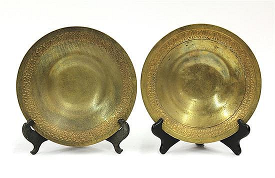 Tiffany studios, New York  gilt bronze bowls