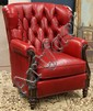 Whittemore Sherrill scarlet red leather chair