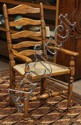 French Provincial style ladder back armchair