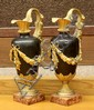 Pair of Renaissance style bronze mounted urns