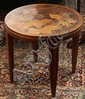 Art Nouveau marquetry decorated occasional table