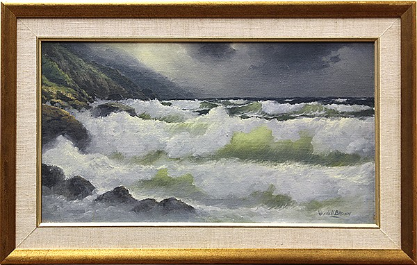 Wendell Brown, Waves in a Storm, oil on canvas