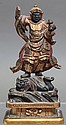Japanese Bishamonten, Meiji, Wood Figure
