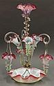 Victorian art glass epergne