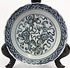Chinese Underglazed Blue Ming Plate