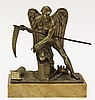 Continental gilt bronze figural sculpture of Cronos the father of Zeus