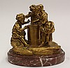 Continental gilt bronze figural sculpture of Children at the Time Needle