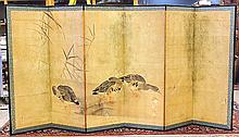Japanese  Six-panel Byobu Screen, Edo Period