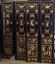 Chinese Pierced Lacquered Wood Screen