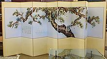 Chinese Embroidered Screen, Pine