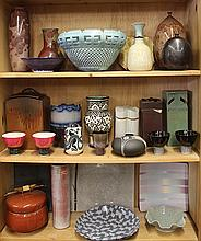 (lot of 28)  Studio pottery group