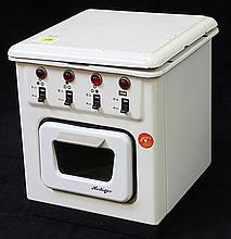 German porcelain and enamel electric child's toy stove