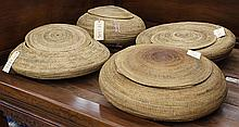 Indonesian coiled storage baskets