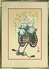 Japanese Woodblock Prints, Flower Carts