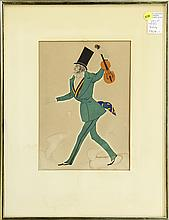 (lot of 4) Leon Bakst (Russian, 1866-1924),