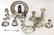 American sterling silver table accessories, 8.17 troy oz.