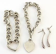 (Lot of 3) Tiffany sterling silver jewelry items