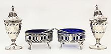 English sterling silver table articles