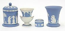 (lot of 4) Associated Wedgwood Jasperware articles