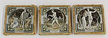 (lot of 3) Framed Mintons 'The Seasons,