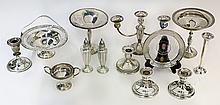 American sterling silver weighted table articles including compotes