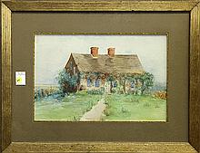 Watercolor, Pathway to a House