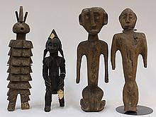 Decorative carved wood figures