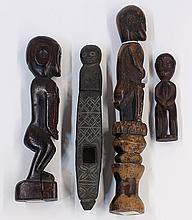 International primitive style decorative carved wood figures