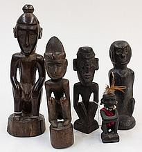 International primtive style carved wood figures