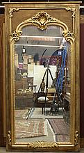 Neoclassical style carved giltwood mirror