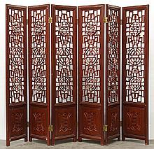 Chinese Pierced Wood Panel Screen