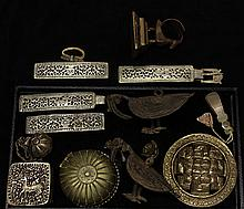 Attractive mixed-lot of ethnic metalwork