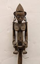 Yoruba style, Nigeria carved wood staff
