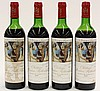 (lot of 4) 1973 Baron Philippe de Rothschild Chateau Mouton Rothschild, Pauillac, France, each 750ml
